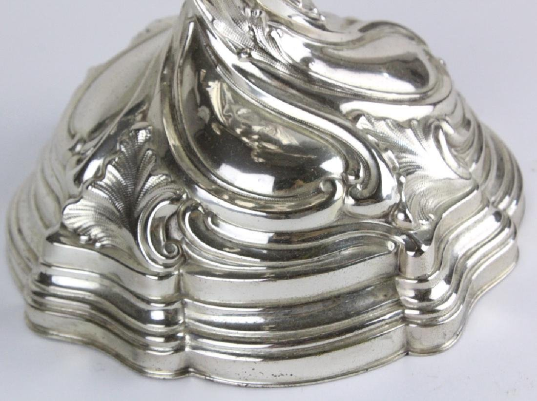 Antique PAIR German 800 Silver 5 Light Candelabras - 10