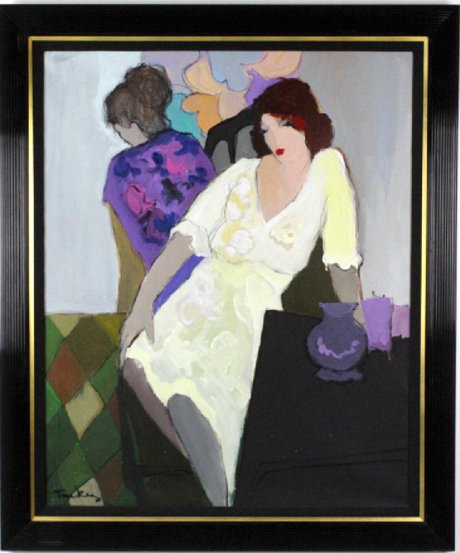 "Itzchak Isaac Tarkay 40""x32"" Original Oil Painting - 2"