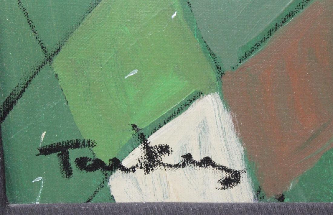 "Itzchak Isaac Tarkay 40""x32"" Original Oil Painting - 3"