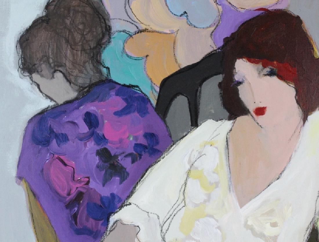 "Itzchak Isaac Tarkay 40""x32"" Original Oil Painting - 5"