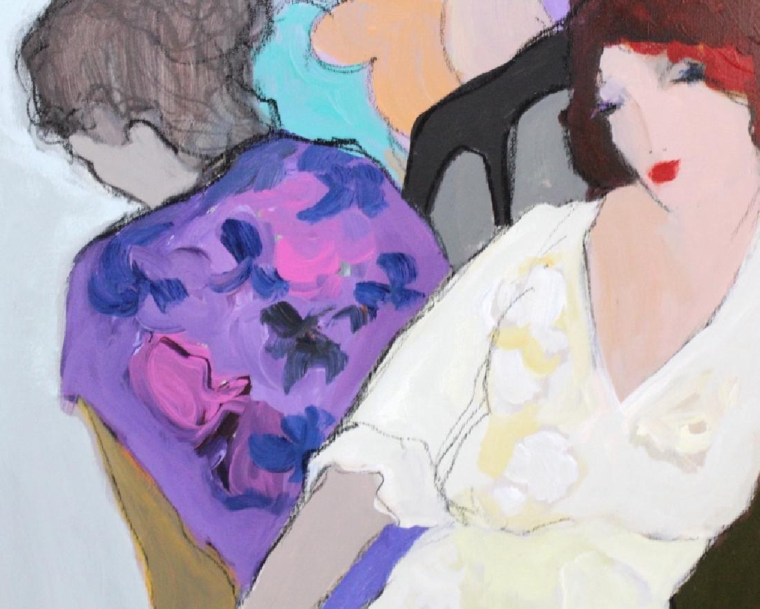 "Itzchak Isaac Tarkay 40""x32"" Original Oil Painting - 7"