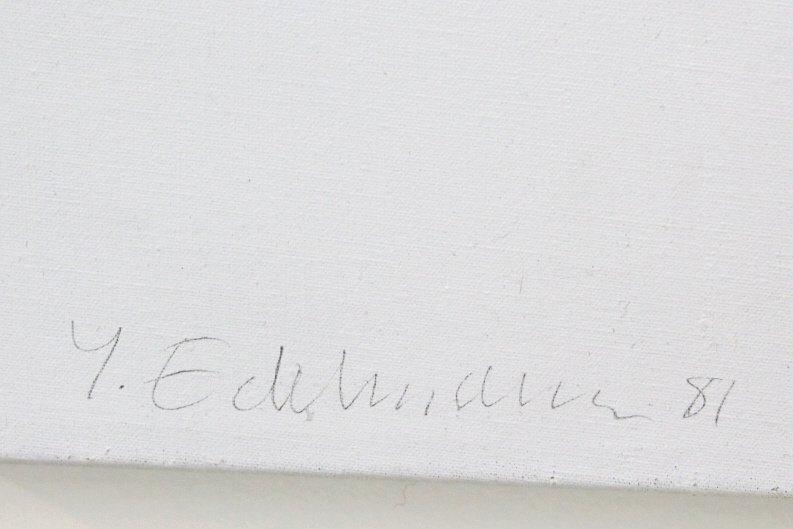 Yrjo Edelmann Modernist Oil On Canvas Painting - 6