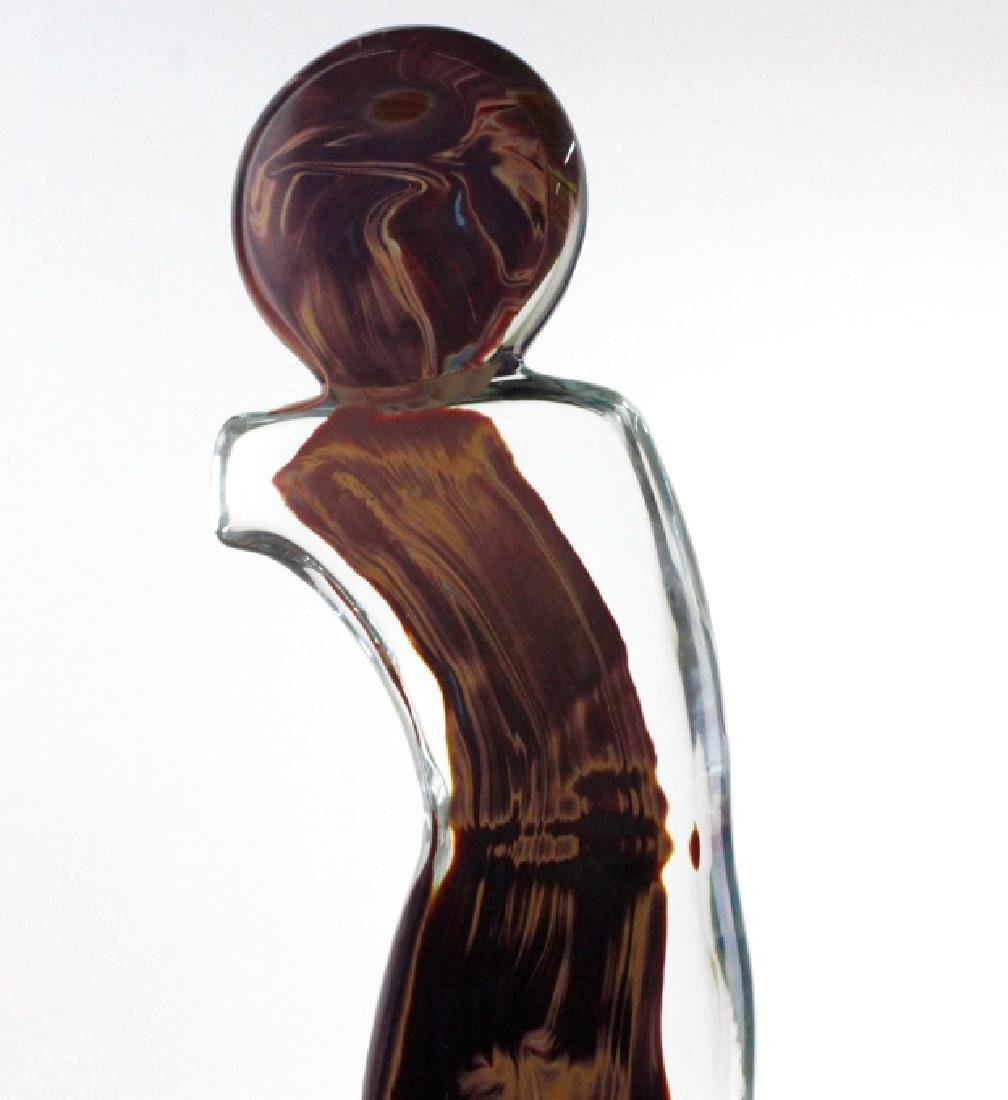 Signed Dino Rosin Calcedonio Art Glass Sculpture - 5