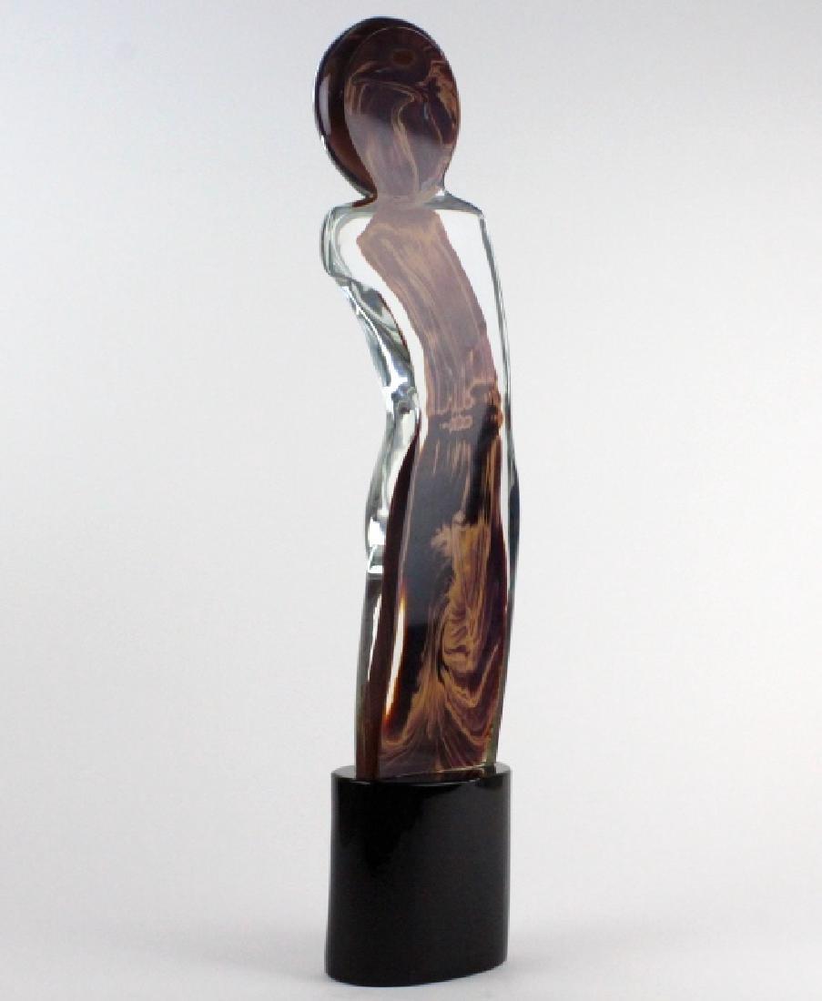Signed Dino Rosin Calcedonio Art Glass Sculpture - 7