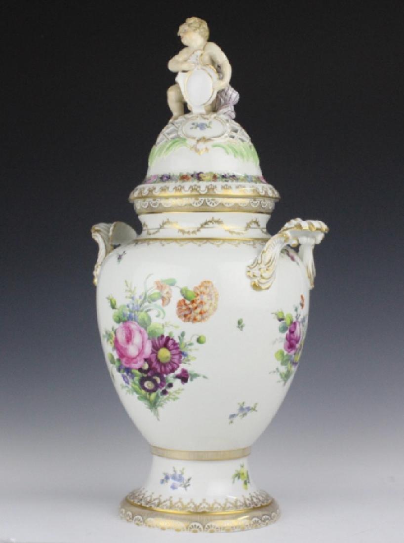Royal Copenhagen Juliane Marie Porcelian Urn Vase - 5