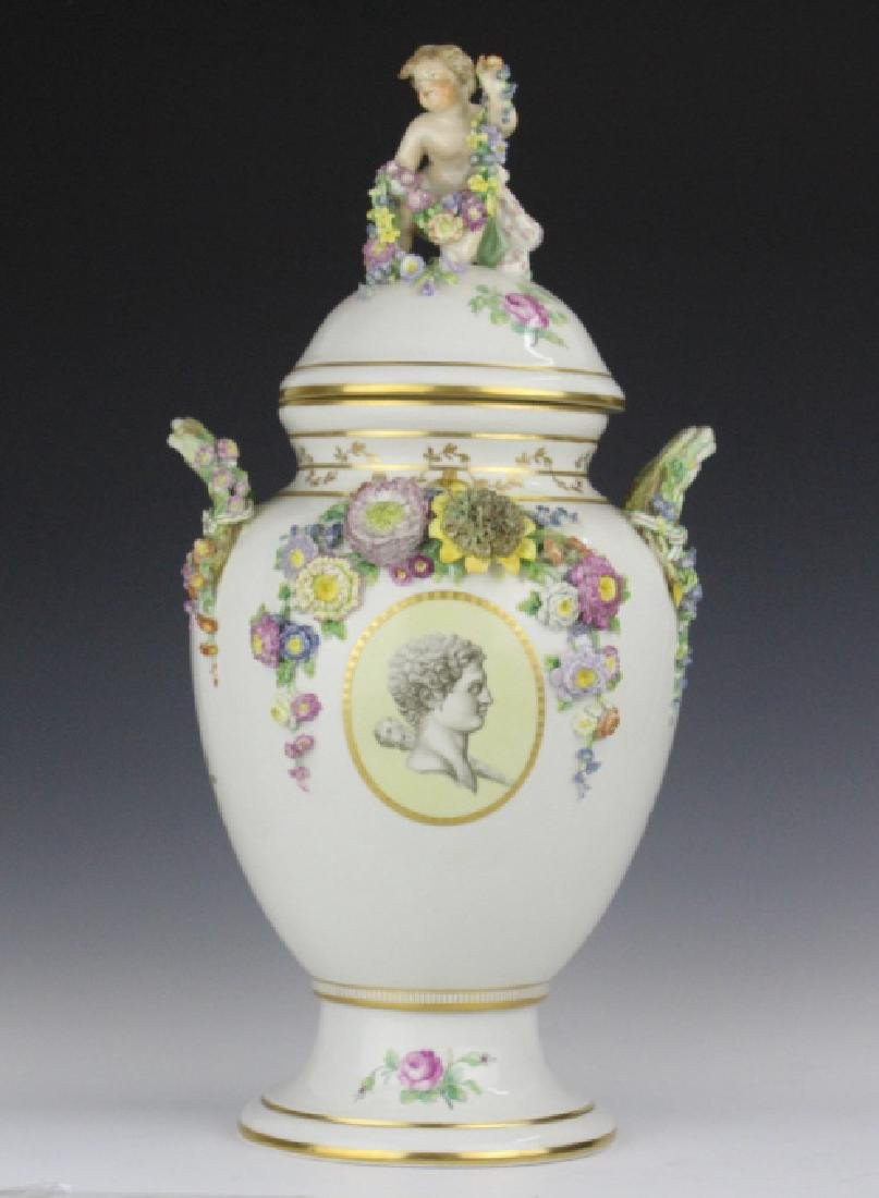 Elaborate Royal Copenhagen Juliane Marie Urn Vase - 2