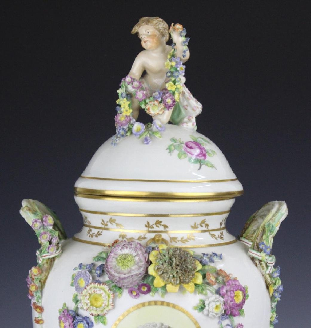 Elaborate Royal Copenhagen Juliane Marie Urn Vase - 3