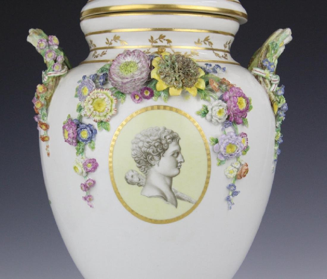 Elaborate Royal Copenhagen Juliane Marie Urn Vase - 4