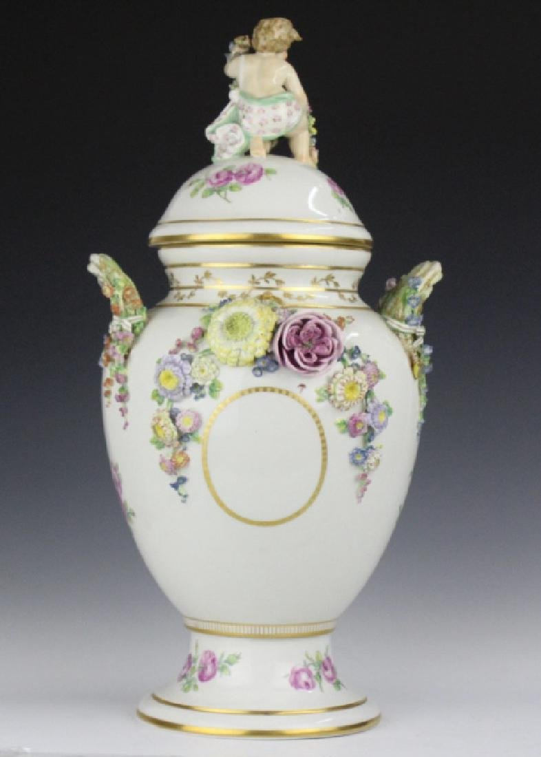 Elaborate Royal Copenhagen Juliane Marie Urn Vase - 6