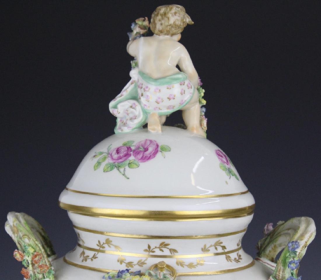 Elaborate Royal Copenhagen Juliane Marie Urn Vase - 7