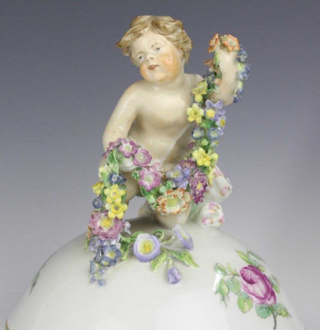 Elaborate Royal Copenhagen Juliane Marie Urn Vase - 8