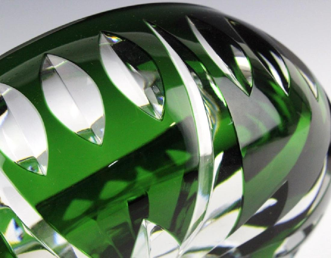 Set of ST LOUIS France Crystal Green to Clear Bowl - 4