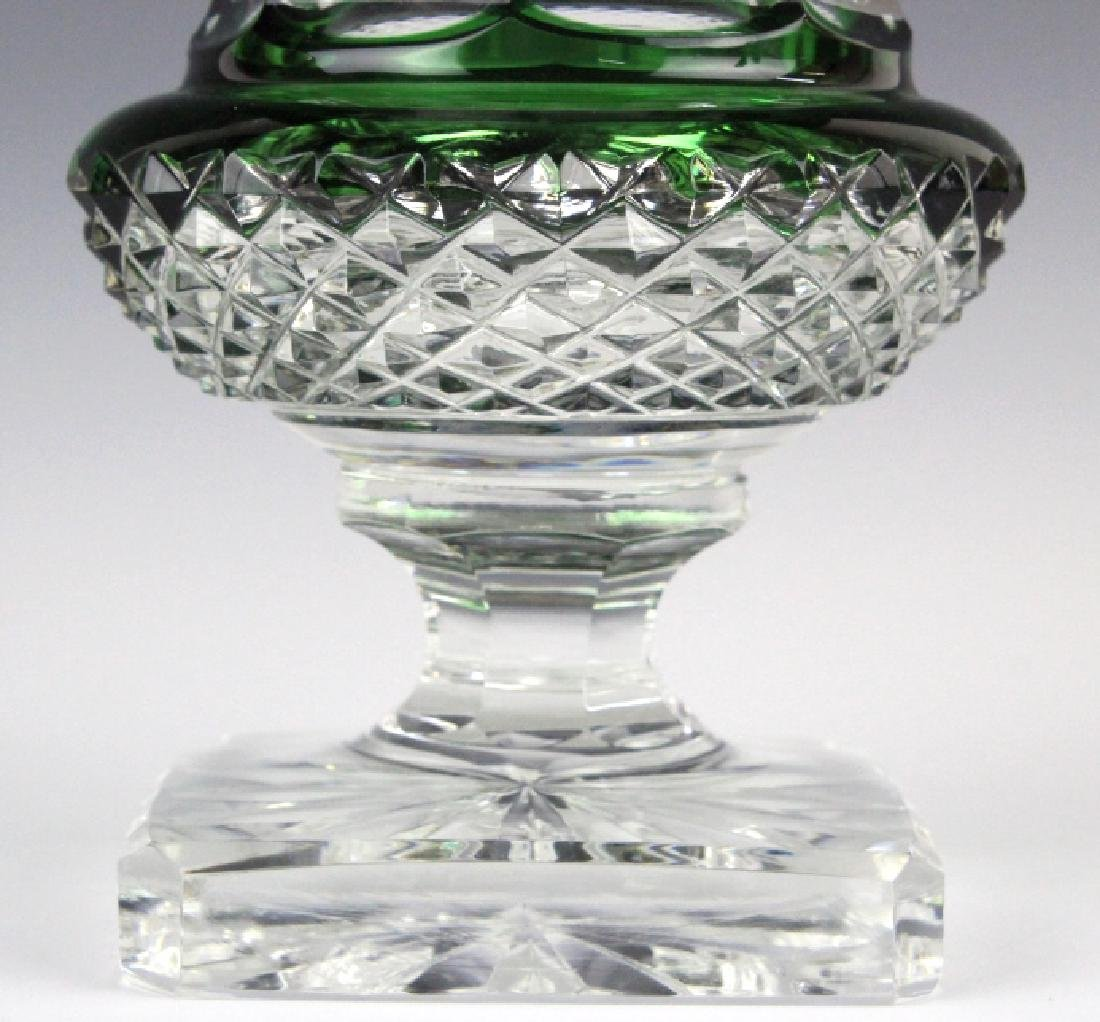 ST LOUIS French Cut Crystal Green Versailles Vase - 2