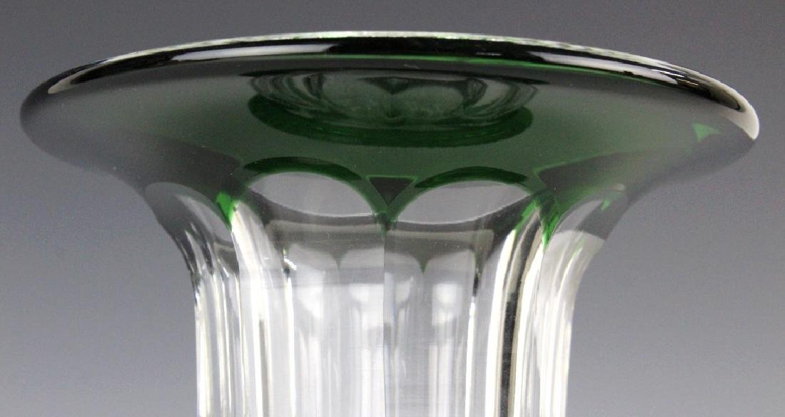 ST LOUIS French Cut Crystal Green Versailles Vase - 3