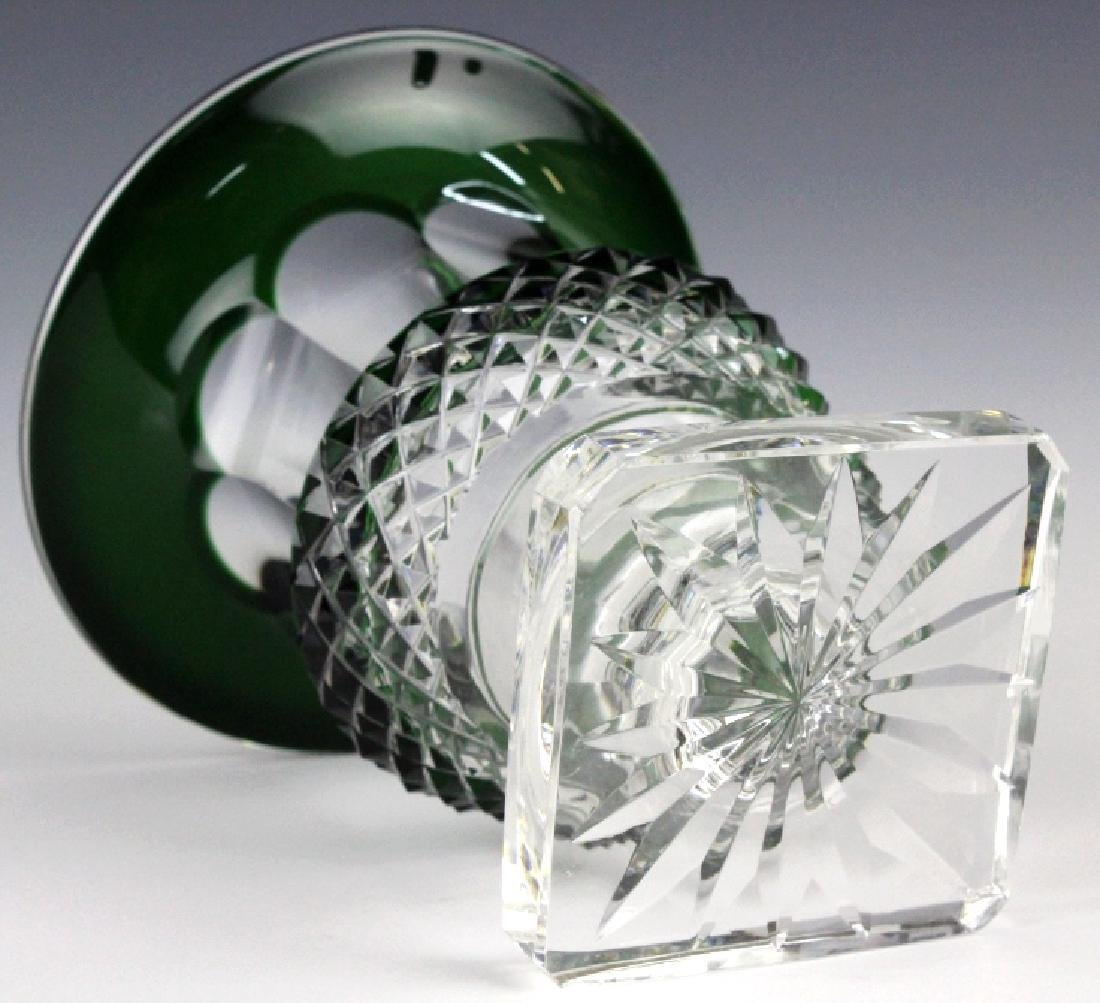ST LOUIS French Cut Crystal Green Versailles Vase - 6