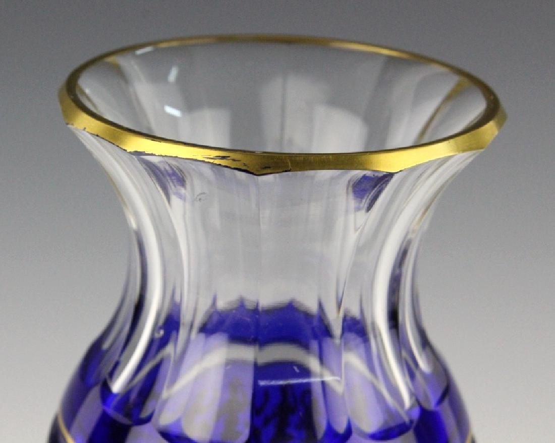 VAL ST. LAMBERT Crystal Cobalt Danse De Flore Vase - 3