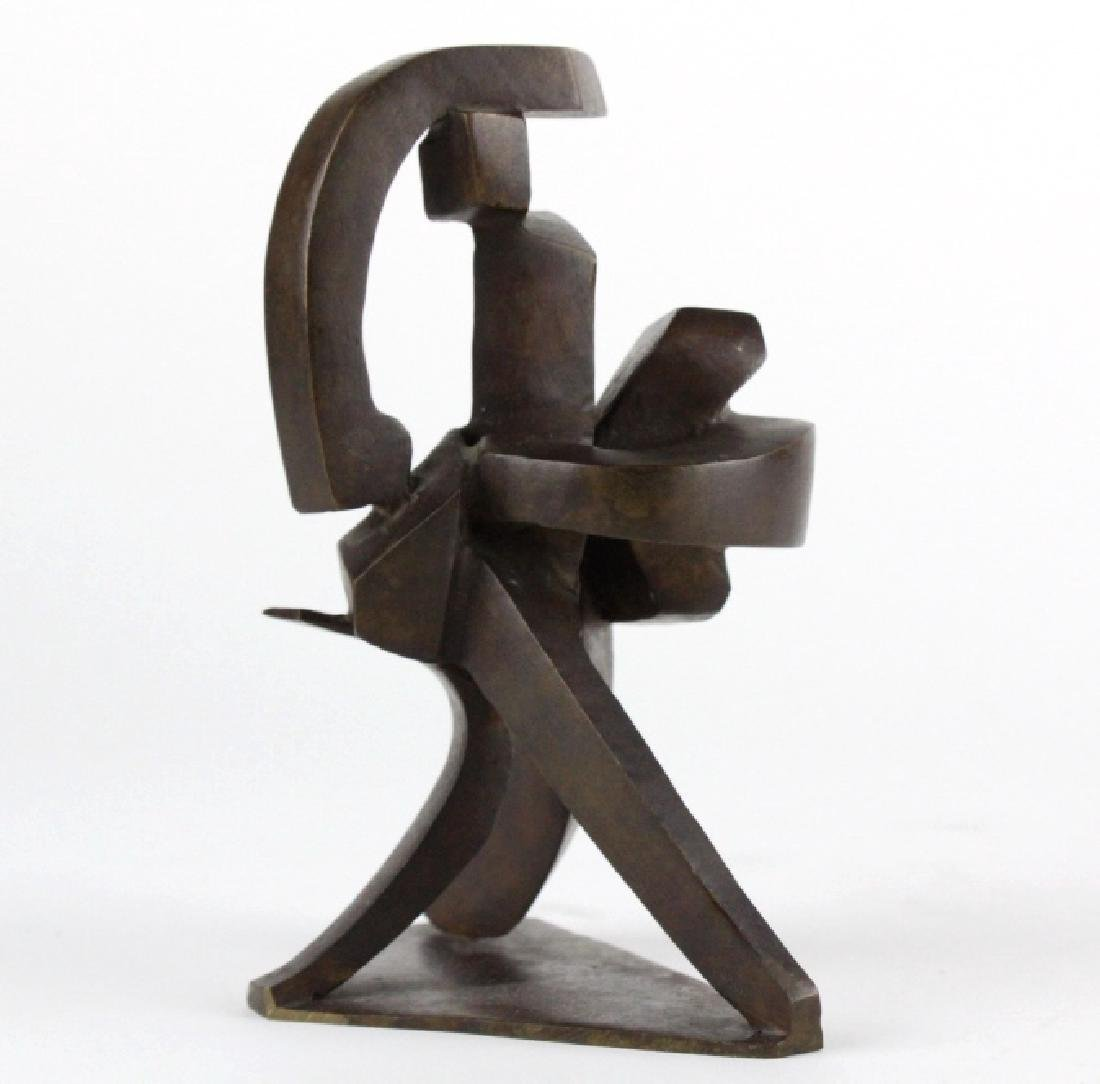 Bill Barrett Modernist Abstract Bronze Sculpture