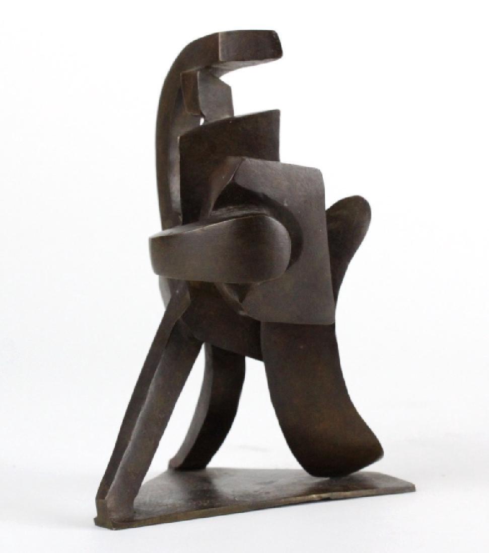 Bill Barrett Modernist Abstract Bronze Sculpture - 3