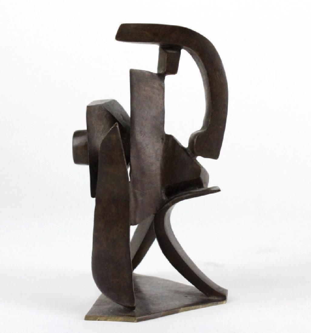 Bill Barrett Modernist Abstract Bronze Sculpture - 4