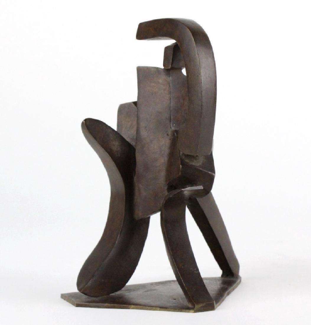 Bill Barrett Modernist Abstract Bronze Sculpture - 5