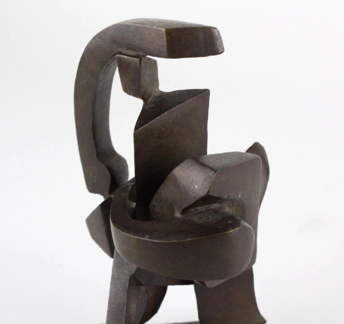 Bill Barrett Modernist Abstract Bronze Sculpture - 6