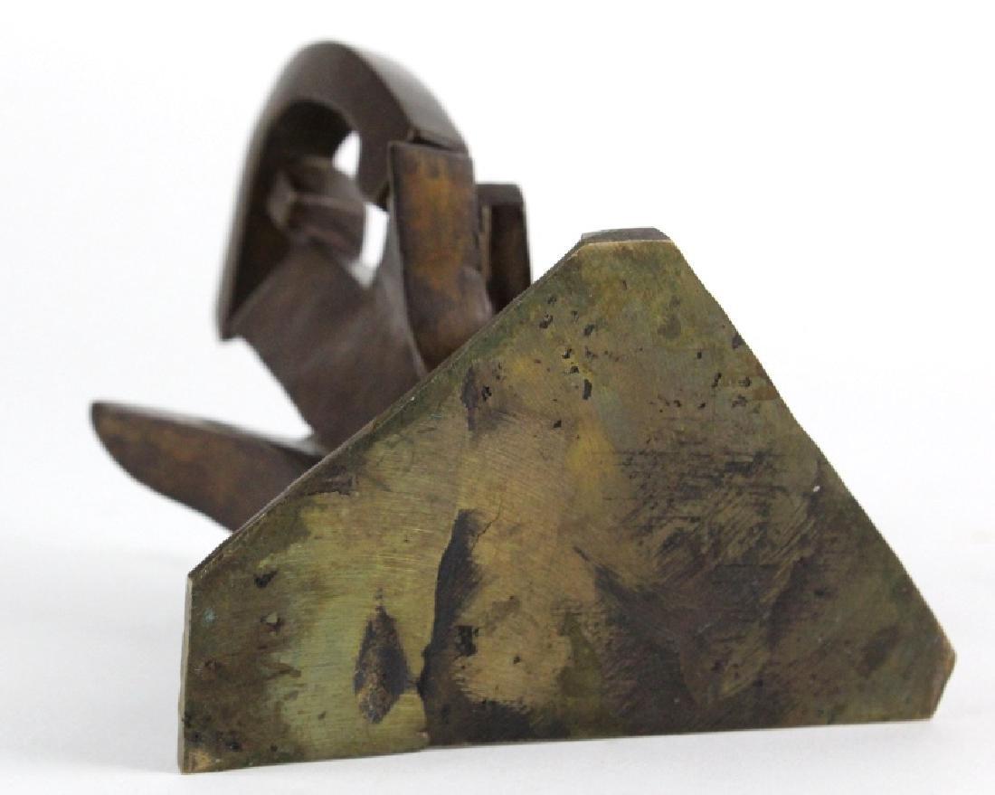 Bill Barrett Modernist Abstract Bronze Sculpture - 8