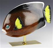 Oggetti Mangani Tropical Fish Porcelain Sculpture
