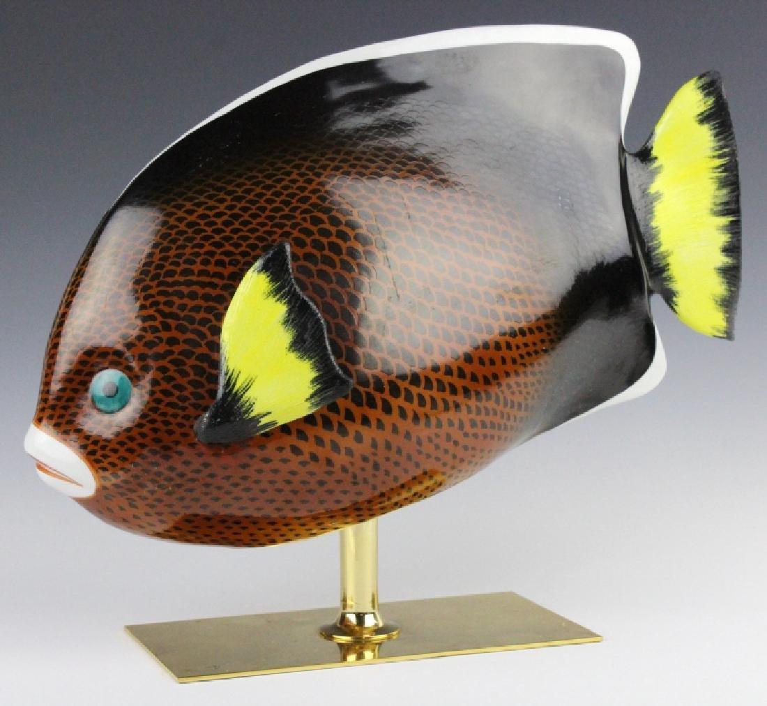Oggetti Mangani Tropical Fish Porcelain Sculpture
