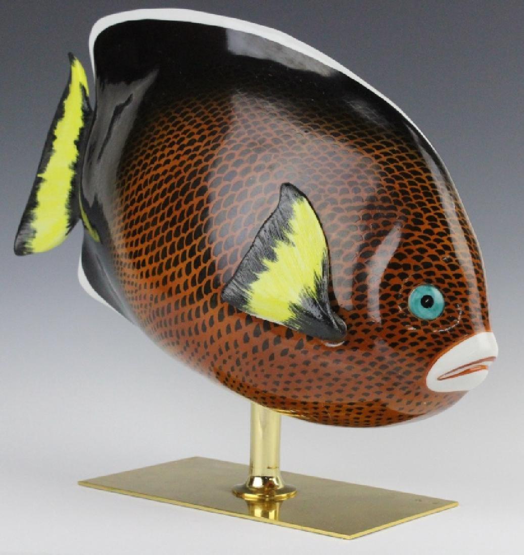 Oggetti Mangani Tropical Fish Porcelain Sculpture - 2