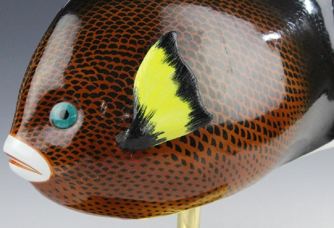 Oggetti Mangani Tropical Fish Porcelain Sculpture - 3