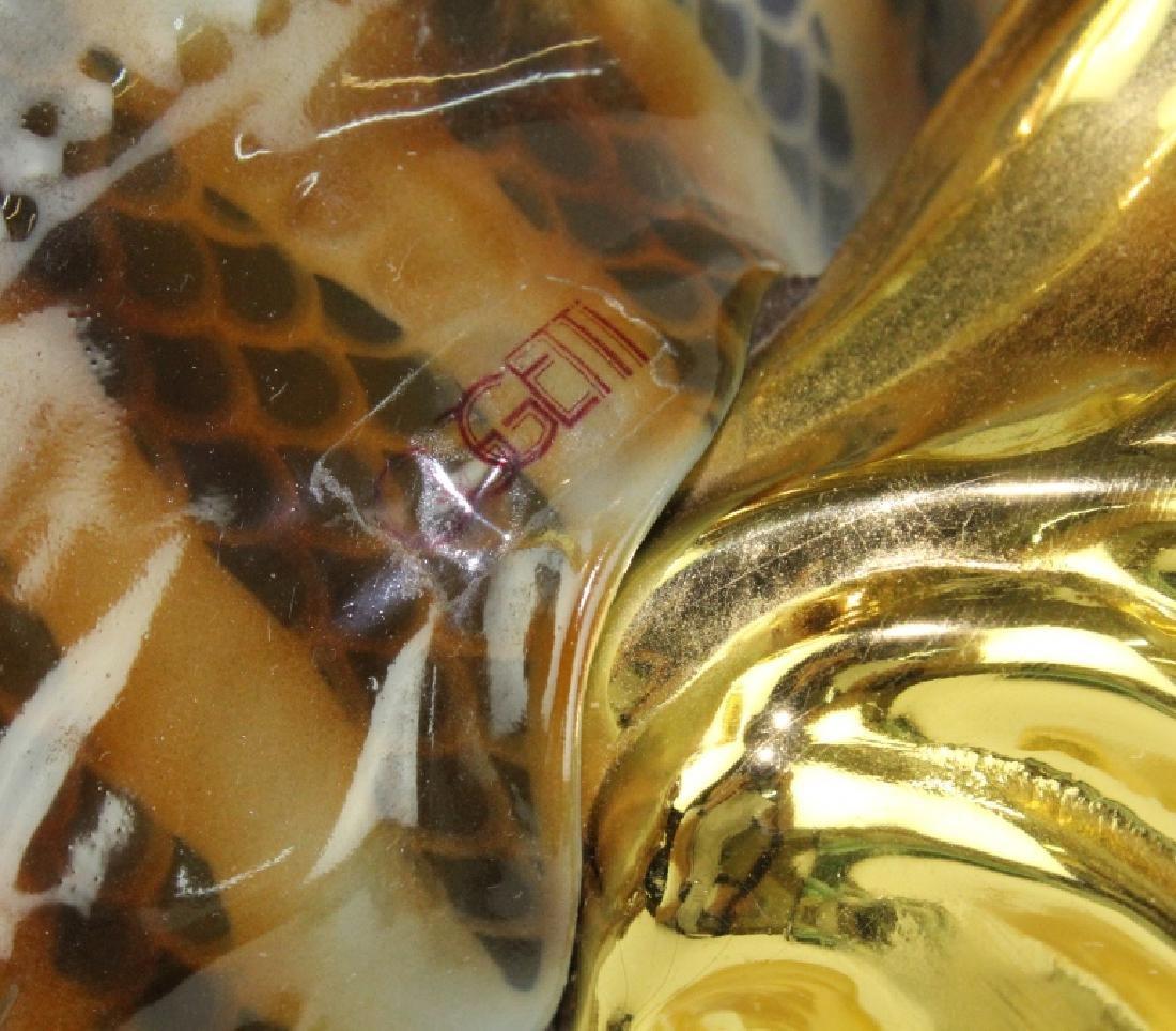"Oggetti Mangani Lion Fish Porcelain Sculpture 18"" - 8"