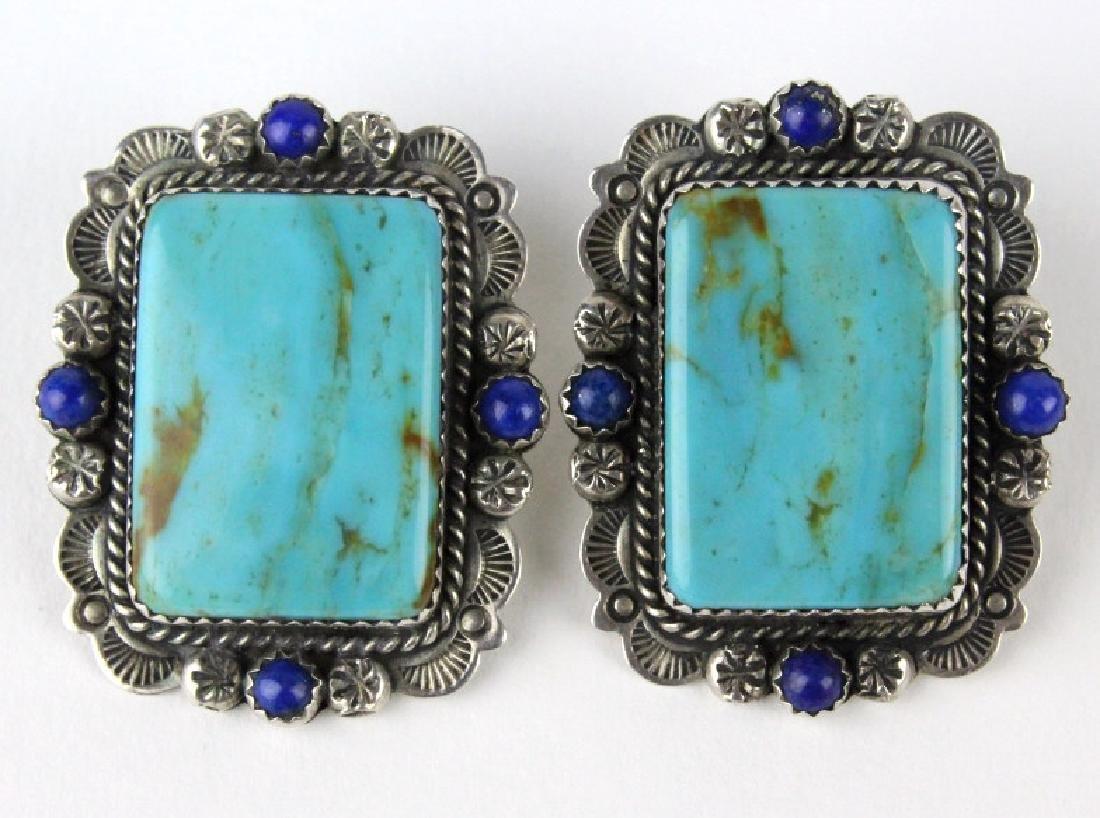 Bernyse Chavez Native American Turquoise Earrings