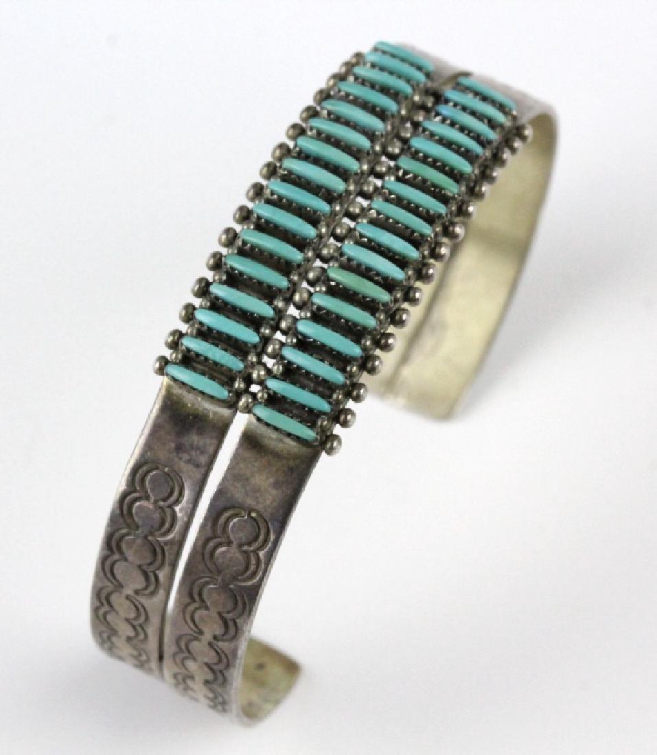 G. Acque Zuni Indian Needle Petit Point Bracelet - 4