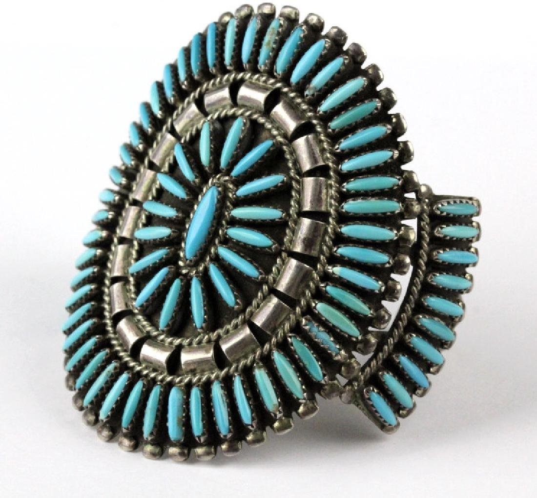 Native American Indian Needle Petit Point Bracelet - 2