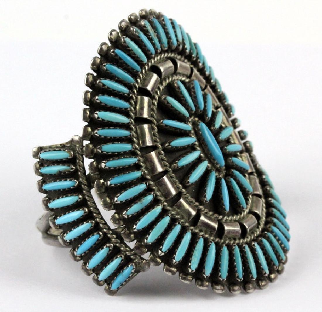 Native American Indian Needle Petit Point Bracelet - 3