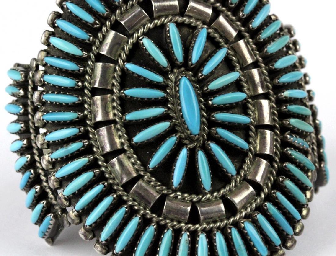 Native American Indian Needle Petit Point Bracelet - 4