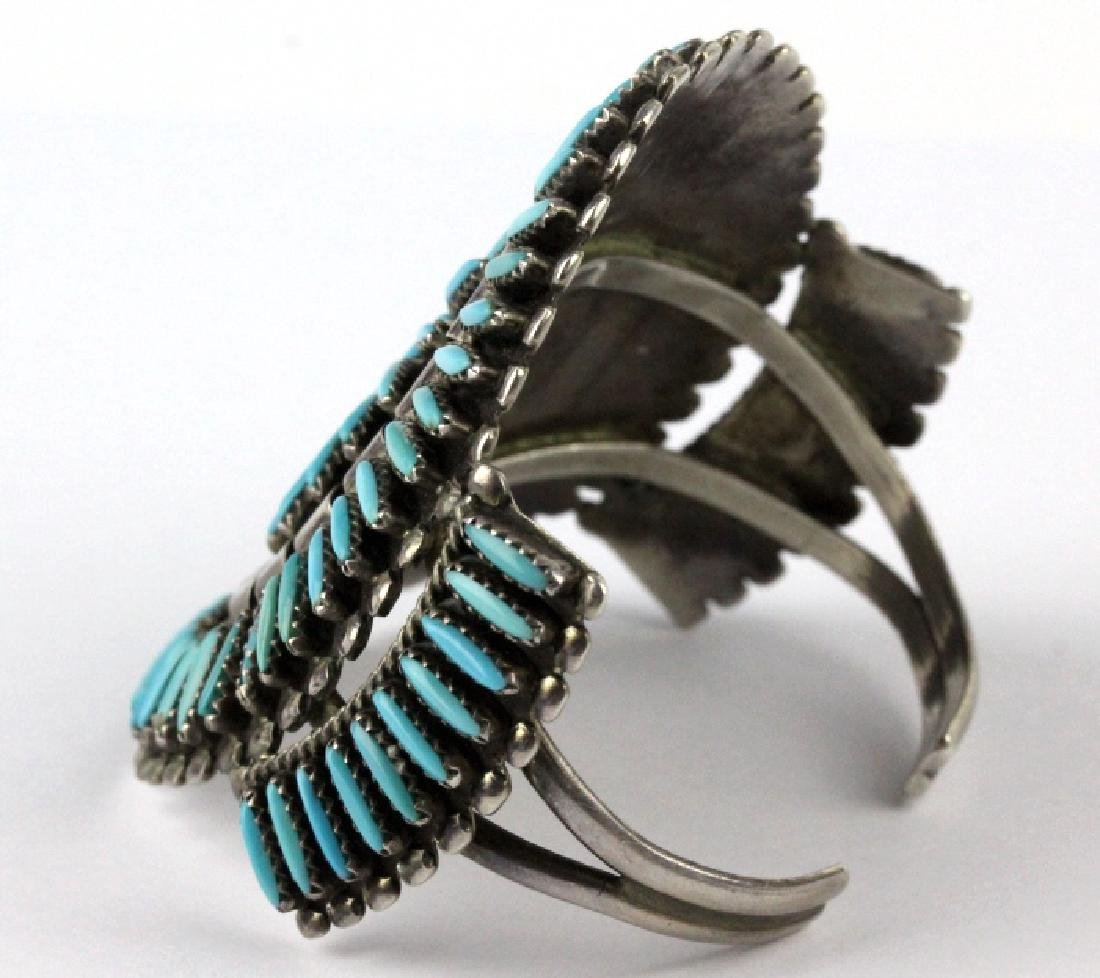 Native American Indian Needle Petit Point Bracelet - 5