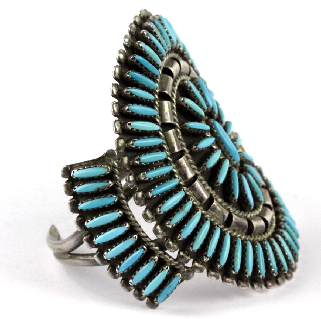 Native American Indian Needle Petit Point Bracelet - 6