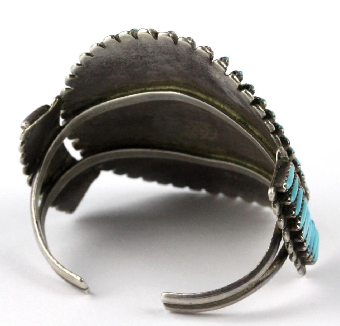 Native American Indian Needle Petit Point Bracelet - 7