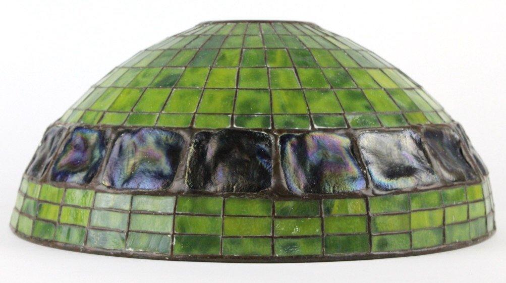 "TIFFANY STUDIOS Green Turtle Back Lamp Shade 16"" - 2"