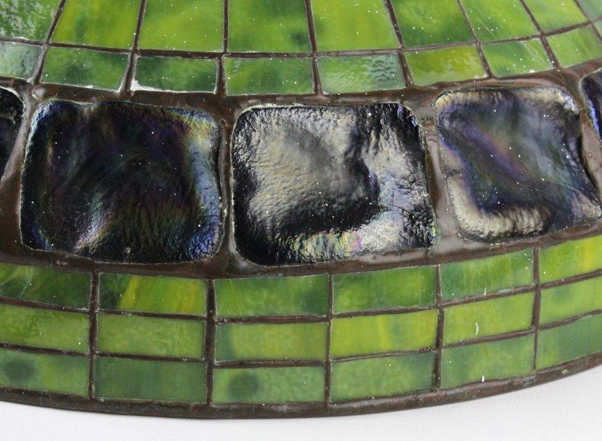"TIFFANY STUDIOS Green Turtle Back Lamp Shade 16"" - 5"
