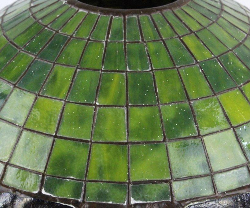 "TIFFANY STUDIOS Green Turtle Back Lamp Shade 16"" - 6"