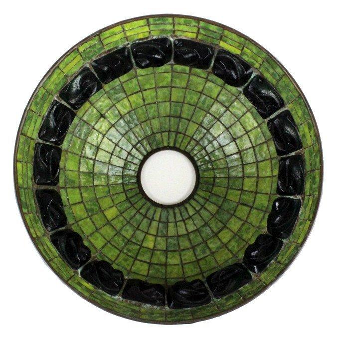 "TIFFANY STUDIOS Green Turtle Back Lamp Shade 16"" - 8"