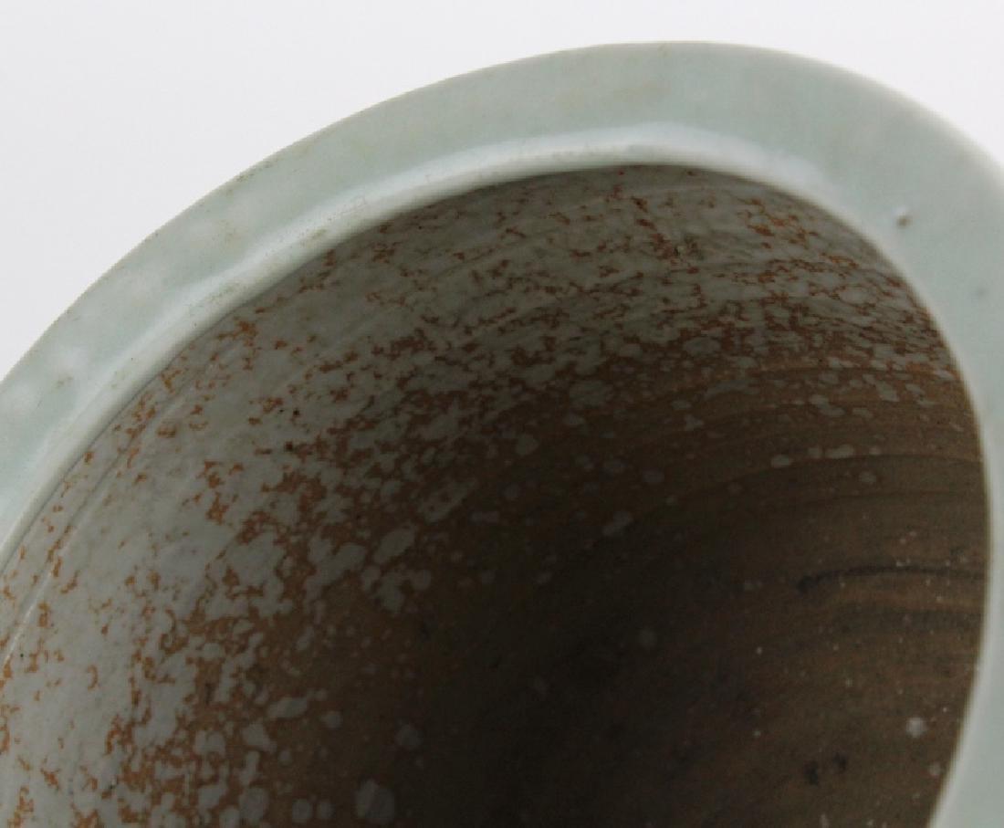 Antique Chinese Celadon Glazed Pottery Censor Pot - 3