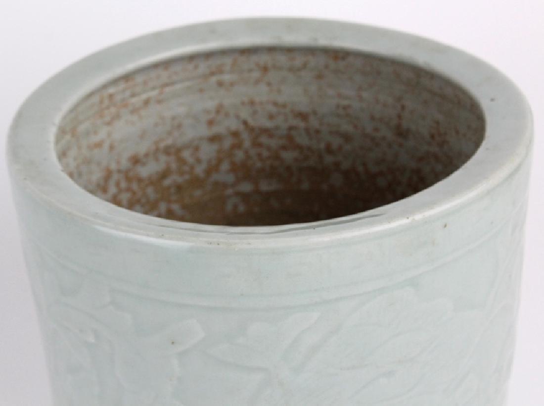 Antique Chinese Celadon Glazed Pottery Censor Pot - 5
