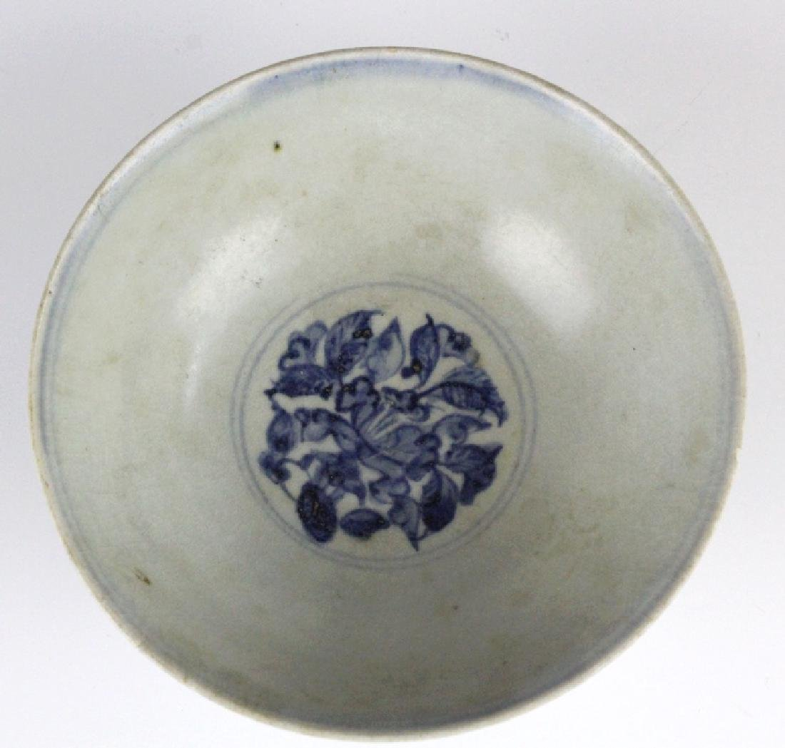 PAIR Antique Chinese Blue & White Porcelain Bowls - 7