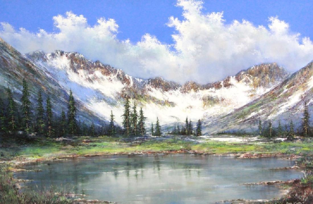 MARIO KONTNY Colorado Mountain Landscape Painting