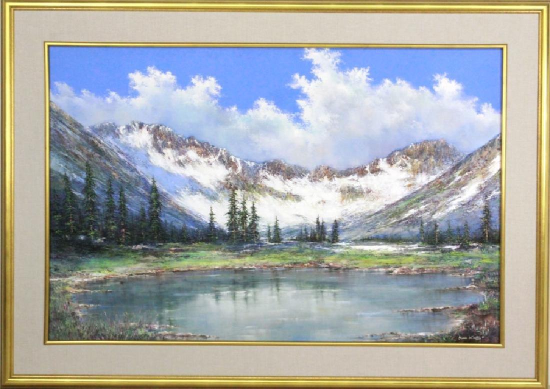 MARIO KONTNY Colorado Mountain Landscape Painting - 2