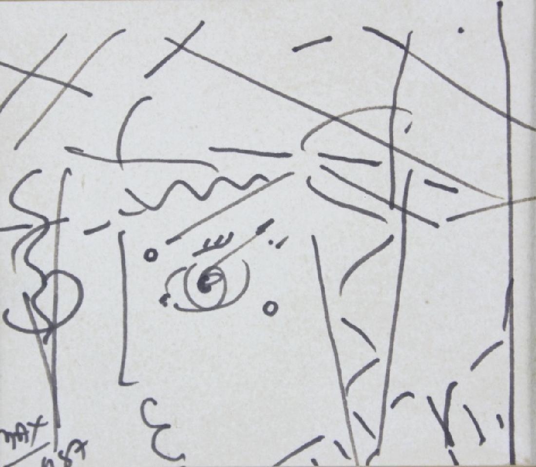 PETER MAX Profile Portrait Ink Drawing ORIGINAL