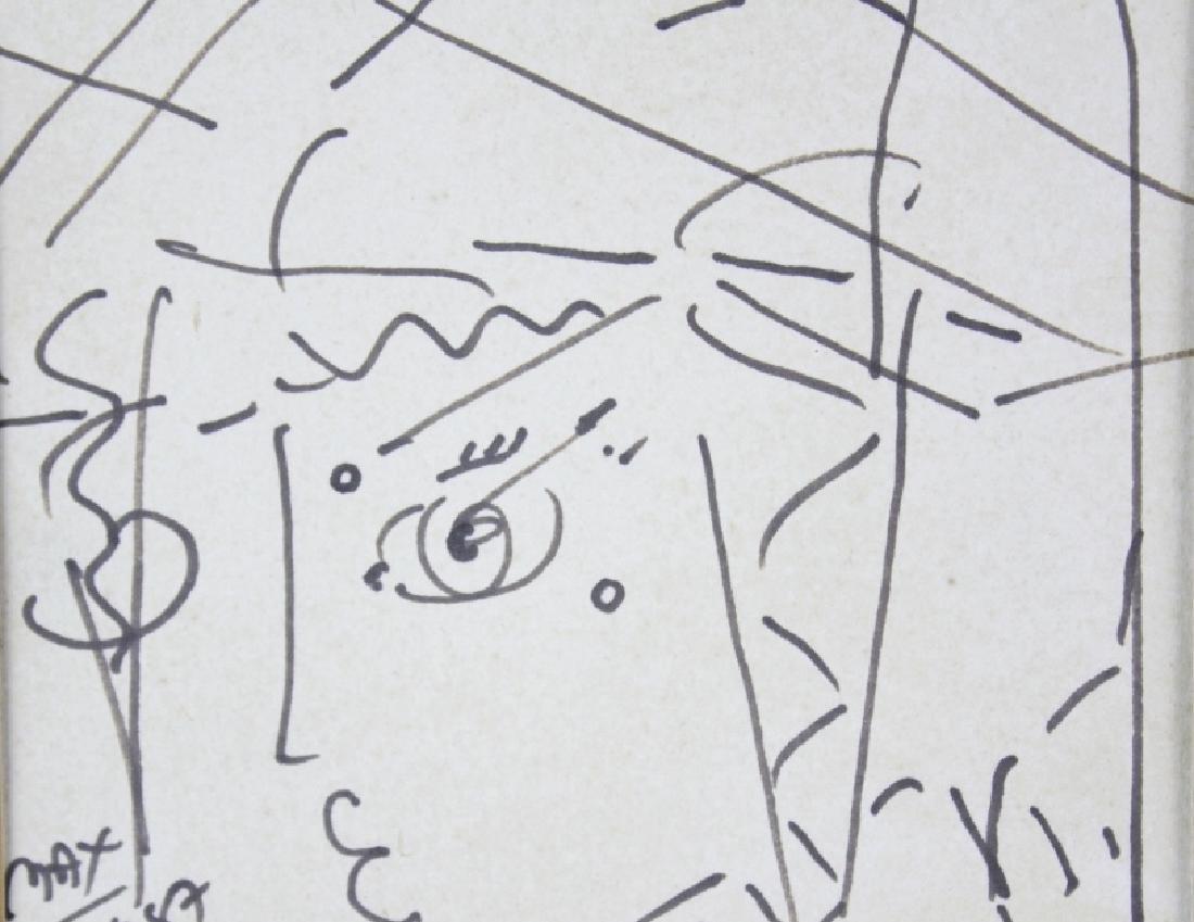 PETER MAX Profile Portrait Ink Drawing ORIGINAL - 4